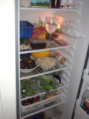 bottom of fridge