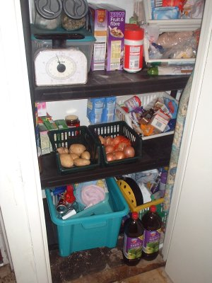 bottom of the pantry